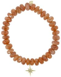 Sydney Evan Starburst Charm Bracelet - Brown