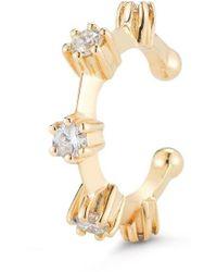 Jade Trau Yellow Gold Kismet Diamond Ear Cuff - Metallic