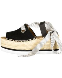 See By Chloé Glyn Lace Up Espadrille - Black