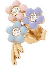 Alison Lou Pastel Bouquet Stud - Blue