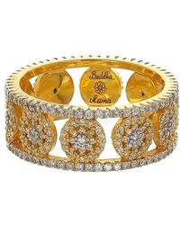 Buddha Mama Mandala Double Band Ring - Metallic