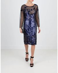 Alberta Ferretti - Embroidered Cocktail Dress - Lyst