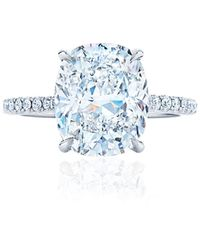 Kwiat Cushion Cut Engagement Ring - 2.22ctw - Blue