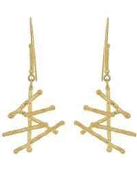 Boaz Kashi Stick Drop Earrings - Metallic