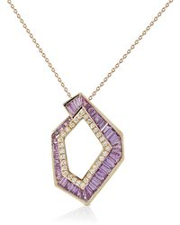 Kavant & Sharart Origami Link No.5 Pink Sapphire And Diamond Pendant Necklace
