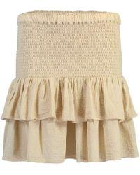 Honorine Sand Pixie Skirt - Natural