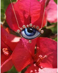Lito Russe Grande Verte Enamel Necklace - Red