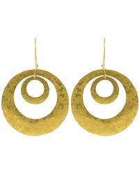 Boaz Kashi - Circle Hoop Earrings - Lyst