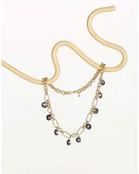 Cult Gaia Black Pearl Anna Necklace