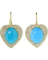 Irene Neuwirth Limited Edition Heart Earrings - Blue