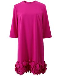 Catherine Regehr Laser Cut Falling Leaf Dress - Pink