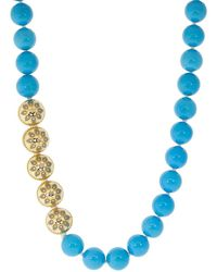 Buddha Mama Turquoise And Enamel Beaded Necklace - Blue
