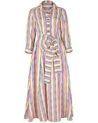 Gül Hürgel Rainbow Stripe Shirt Dress - Multicolour