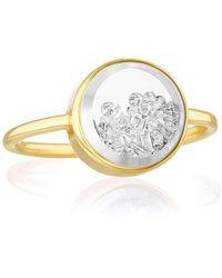 Moritz Glik Round Core Baby Diamond Shaker Ring - Metallic