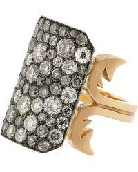 Sylva & Cie - Grey Diamond Ten Table Ring - Lyst