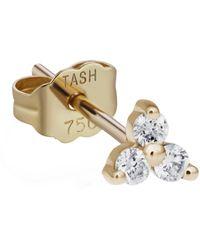 Maria Tash Diamond Trinity Threaded Stud Earring - Metallic