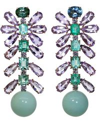 Irene Neuwirth | Tourmaline And Emerald Earrings | Lyst