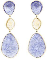 Katherine Jetter - Three Drop Slice Earrings - Lyst