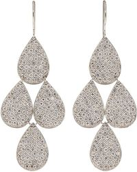 Irene Neuwirth Pave Four-drop Chandelier Earrings - White