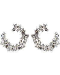 Suzanne Kalan Diamond Fireworks Spiral Earrings - Multicolour