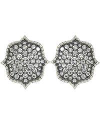 Bayco - Diamond Lotus Earrings - Lyst