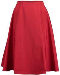 Lanvin Seam Detail Flare Skirt - Red