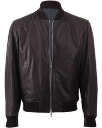 Brunello Cucinelli - Reversible Leather Wool Bomber - Lyst
