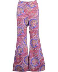 Alexis Salima Paisley-print Trousers - Purple