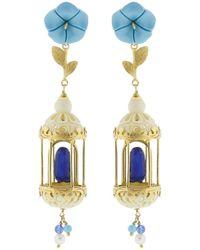 Of Rare Origin - Bird Cage Earrings - Lyst