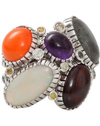 Boaz Kashi | Opal And Moonstone Wire Wrap Ring | Lyst