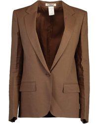 Chloé Oversized Menswear Blazer - Brown