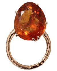 Federica Rettore Campanellino Citrine Ring - Multicolor