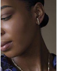 Jade Trau Kismet Diamond Half Hoop Earrings - Brown