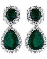 Fantasia Jewelry - Oval Drop Earrings - Lyst