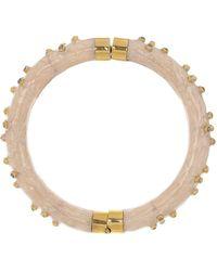 Boaz Kashi White Enamel Diamond Bracelet