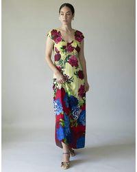 Marc Jacobs Open Back Floral Print Dress - Multicolour