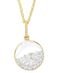Moritz Glik Round Diamond Shaker Pendant Necklace - Metallic