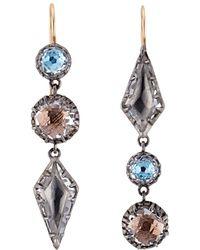 Larkspur & Hawk - Sadie Mis-matched Kite Three Drop Earrings - Lyst