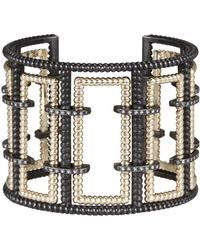 Nancy Newberg - Diamond Bracket Silver Frame Cuff - Lyst