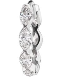 Maria Tash 6.5mm Invisible Set Diamond Marquise Eternity Hoop Earring - Metallic