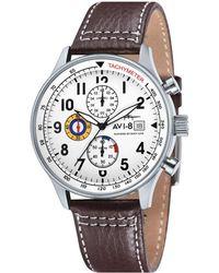 AVI-8 Hawker Hurricane Stainless Steel Watch Av-4011-01 - Brown