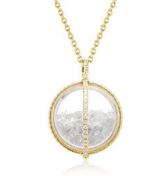 Moritz Glik Diamond Globe Shaker Pendant Necklace - Metallic