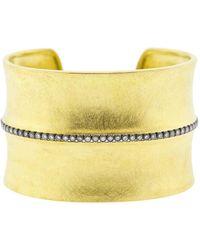 Todd Reed Diamond Line Wide Gold Cuff - Multicolour