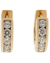 Dana Rebecca - Diamond Huggie Earrings - Lyst