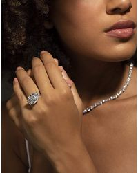 Fantasia by Deserio 11ct Asscher With Trapezoid Sides Ring - Brown