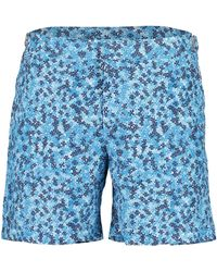 Orlebar Brown Bulldog Ninfea Bahama Blue Mid-length Swim Shorts