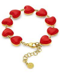 Buddha Mama Red Enamel Heart Bracelet