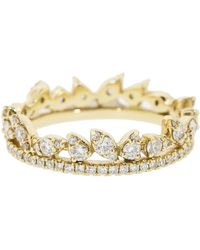 Dana Rebecca Sophia Ryan Diamond Stacking Ring - Metallic