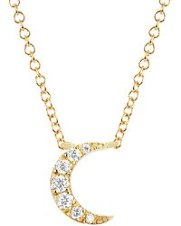 EF Collection - Diamond Moon Choker Necklace - Lyst