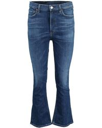 Citizens of Humanity Clearwater Demy Cropped Flare Jean - Blue